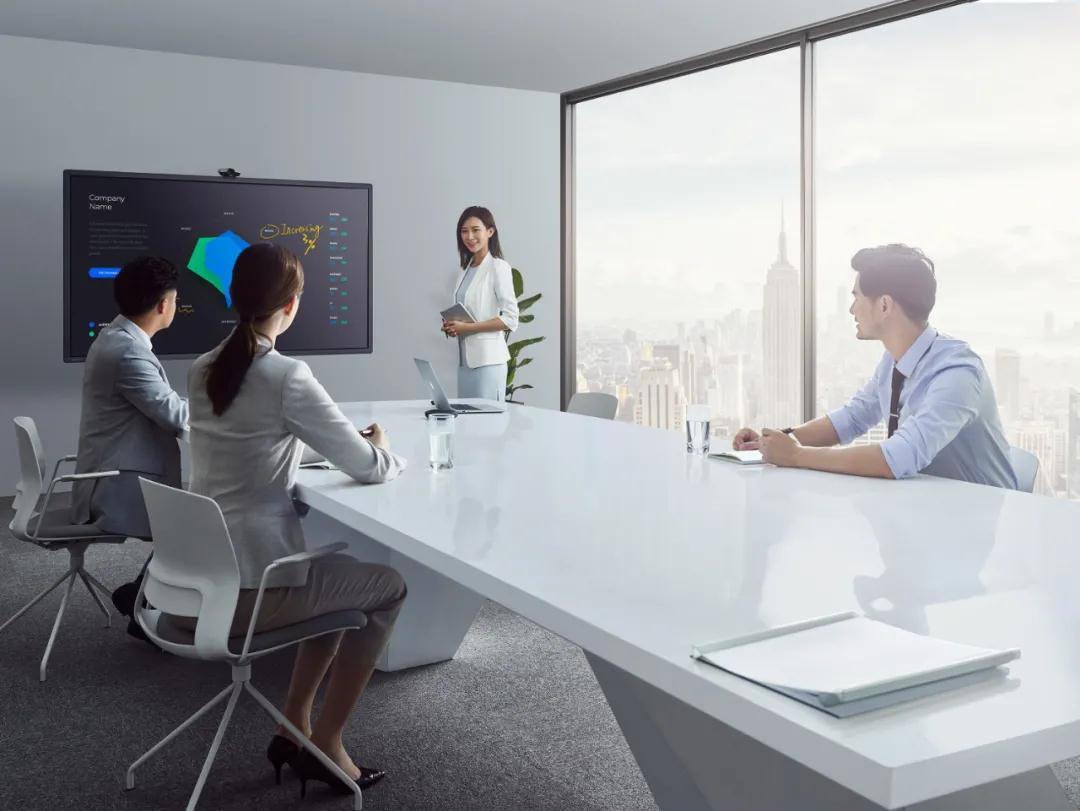 智能会议一体机让会议室简约一体化